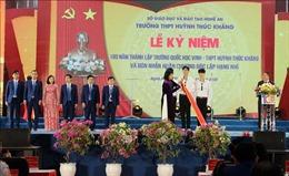 Trường THPT Huỳnh Thúc Kháng đón nhận Huân chương Độc lập hạng Nhì
