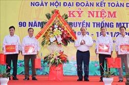 Thủ tướng dự Ngày hội Đại đoàn kết toàn dân tộc tại thôn Phù Liễn (Hải Dương)