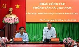 Thông tấn xã Việt Nam và tỉnh Sóc Trăng tăng cường hợp tác thông tin