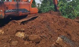 UBND tỉnh Vĩnh Phúc chỉ đạo xử lý dứt điểm tình trạng khai thác đất trái phép
