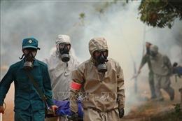 Quân đội diễn tập phòng thủ dân sự liên tỉnh ứng phó sự cố môi trường