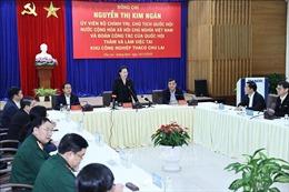 Chủ tịch Quốc hội thăm và làm việc tại Khu công nghiệp Thaco Chu Lai
