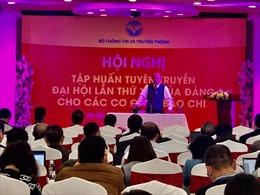 Tập huấn công tác tuyên truyền Đại hội XIII của Đảng cho các cơ quan báo chí