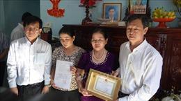 Truy tặng kỷ niệm chương cho người hiến tạng cứu sống 4 người