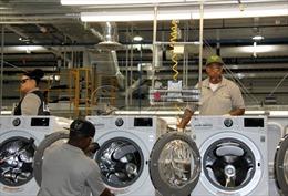 Mỹ gia hạn áp thuế đối với máy giặt Hàn Quốc