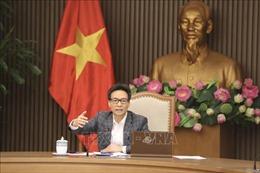 Phó Thủ tướng Vũ Đức Đam chủ trì cuộc họp trực tuyến với Hải Dương và Quảng Ninh