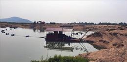 Phản hồi thông tin của TTXVN: Doanh nghiệp tháo gỡ các thiết bị vi phạm khai thác cát
