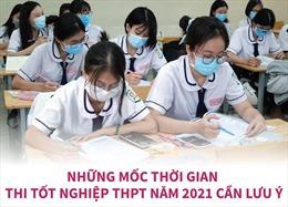 Những mốc thời gian thi tốt nghiệp THPT năm 2021 cần lưu ý
