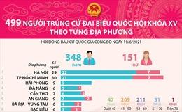 499 người trúng cử Đại biểu Quốc hội khóa XV theo từng địa phương