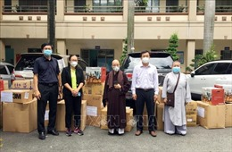 Chư ni Phật giáo tích cực hỗ trợ công tác phòng, chống dịch COVID-19