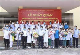 Đoàn cán bộ y tế tỉnh Vĩnh Phúc hỗ trợ TP Hồ Chí Minh chống dịch COVID-19