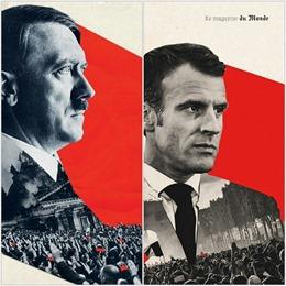 Tạp chí Pháp phải xin lỗi vì trang bìa liên tưởng Tổng thống Macron với Hitler