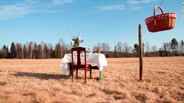 Độc đáo nhà hàng một bàn giữa đồng cỏ, chỉ phục vụ một người