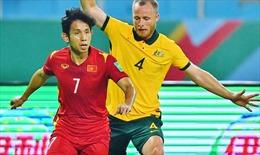 Hiệp 1 trận Việt Nam - Australia: VAR từ chối penalty cho Việt Nam, Australia tạm dẫn 1 - 0