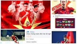 Cầu thủ Việt Nam ăn mừng và tự hào: Vòng loại thứ 3 ơi, mình vẫn đuổi được bạn đấy!