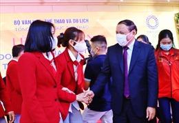 Bộ trưởng Nguyễn Văn Hùng động viên, khích lệ Đoàn thể thao Việt Nam dự Olympic Tokyo 2020
