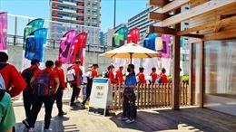 Olympic Tokyo 2020: Người Việt ở Nhật Bản tiếp sức cho đoàn thể thao Việt Nam
