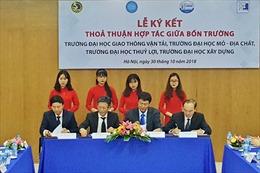Bốn trường đại học kỹ thuật ký kết hợp tác chiến lược