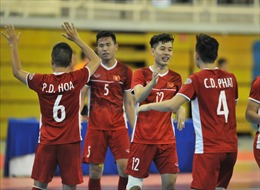 Đánh bại Myanmar 7 - 3, tuyển futsal Việt Nam đoạt vé dự VCK châu Á 2020