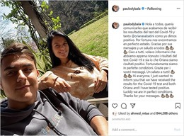 Ngôi sao Dybala cùng cha con huyền thoại Paolo Maldini bị nhiễm COVID-19