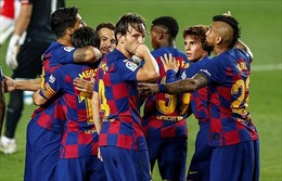 Barcelona vượt mặt Real, trở lại ngôi đầu