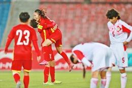 Đánh bại Tajikistan, tuyển nữ Việt Nam giành vé vào vòng chung kết Asian Cup 2022