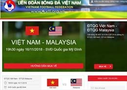 'Cháy vé' online trận Việt Nam gặp Malaysia, người hâm mộ chỉ có thể mua trực tiếp