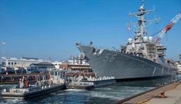 Chiến hạm USS John McCain phải 'ẩn mình' khi Tổng thống Trump thăm Nhật Bản