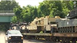 Hình ảnh xe tăng chiến đấu tiến vào Washington D.C. trước Lễ Quốc khánh Mỹ