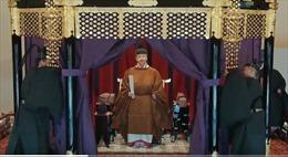 Video Nhật hoàng ngồi Ngai vàng Hoa cúc, chính thức đăng quang