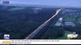 Tắc đường dài kỷ lục 630km tại Pháp do đình công