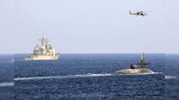 Răn đe Iran, tàu ngầm Mỹ chở tên lửa dẫn đường đi qua Eo biển Hormuz