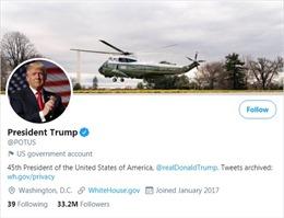 Twitter sẽ xóa sạch người theo dõi của tài khoản Tổng thống Mỹ