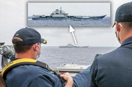 Mỹ gửi thông điệp gì qua bức ảnh tàu khu trục Mustin theo dõi tàu Liêu Ninh?