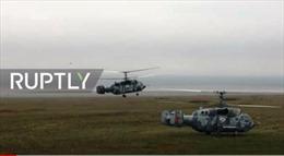 Video Hạm đội Biển Đen tập trận tấn công trên không tại Crimea