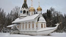 Kiến trúc độc đáo của nhà thờ hình chiếc tàu biển tại Moskva