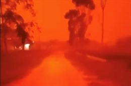 Bầu trời Indonesia đỏ rực như máu vì cháy rừng