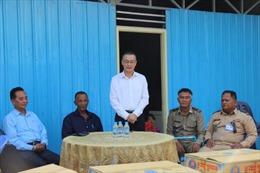 Xây nhà mới cho ba hộ gia đình gốc Việt bị hỏa hoạn ở Phnom Penh