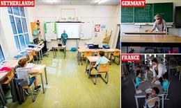 Các quốc gia châu Âu thận trọng tìm giải pháp cho học sinh đi học trở lại
