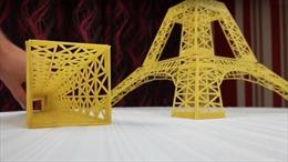 Mô hình tháp Eiffel từ spaghetti