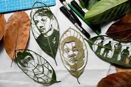Biến lá cây thành tác phẩm nghệ thuật