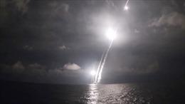 Video tàu ngầm hạt nhân Nga phóng chùm tên lửa đạn đạo