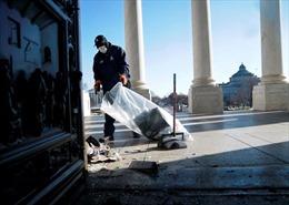 Cảnh tượng Điện Capitol hư hại nặng nề sau cuộc bạo loạn