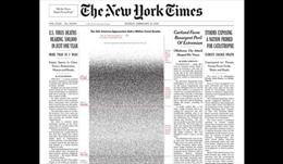 Trang nhất Thời báo New York để 500.000 chấm đen tưởng nhớ nạn nhân COVID-19