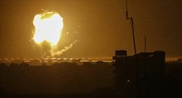 Israel công bố video không kích Dải Gaza để trả đũa vụ tấn công rốc-két