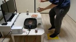 Youtuber Nhật Bản phát minh bếp nướng thịt bằng sức người