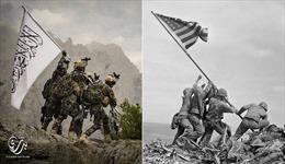 Taliban tái hiện cảnh dựng cờ chiến thắng nổi tiếng của Mỹ trong Thế chiến thứ 2