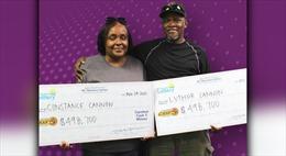 Cặp vợ chồng Mỹ cùng trúng giải xổ số độc đắc gần 1 triệu USD