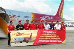 """Vietjet Air tổ chức chuyến bay """"Kết nối  yêu thương"""" cứu trợ nạn nhân động đất, sóng thần tại Indonesia"""