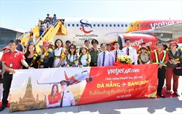 Vietjet đón chuyến bay khai trương Đà Nẵng - Bangkok
